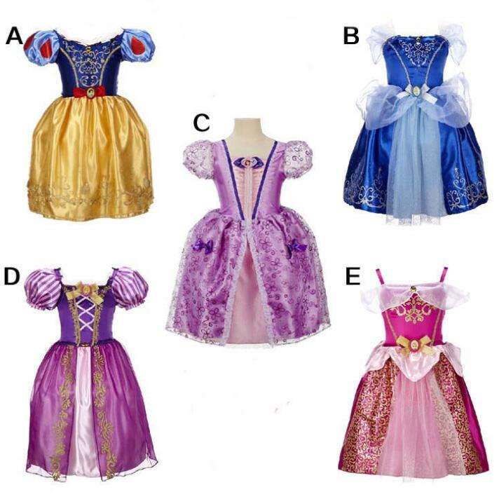 Wholesale Hot Flower Cinderella Dress For Girl Newest Cheaper OEM Selling Cinderella Princess Dress