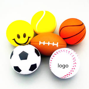 Cheap promotional toys MOQ 500pcs Stress Ball custom logo pu Ball 2019