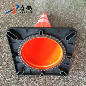Professional Manufacturer Traffic Road Safety Black Base PVC Traffic Cone