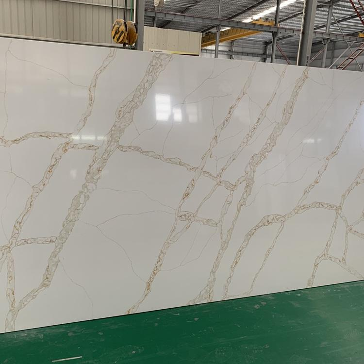 Solid surface sheet calcutta goud quartz stone