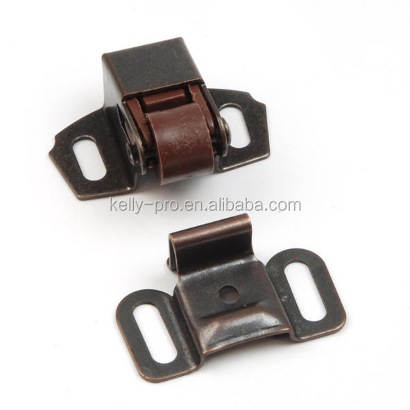 Single Ball Roller Spring Cabinet Catch Lock Metal Plastic Roller Latch