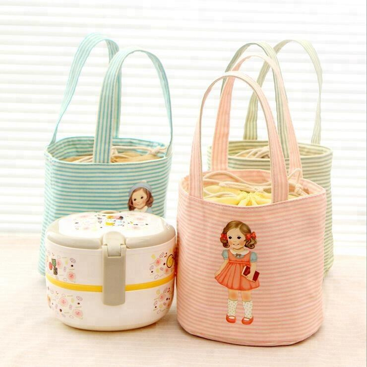 Thick doll lunch bag Portable thick insulation lunch bag Waterproof lunch bag