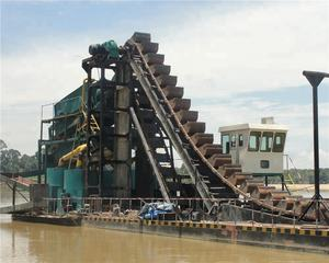 High Efficiency Chain Bucket Dredger for sale