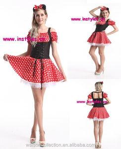 Muchacha encantadora mini mouse costume party mini mouse cosplay traje