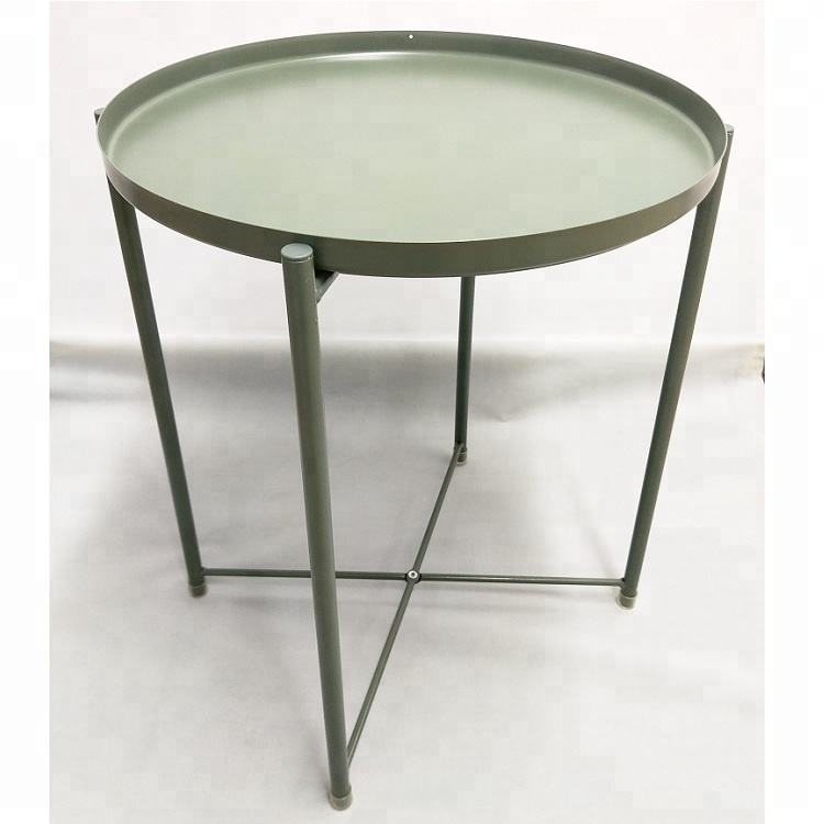 Small iron round Tray table