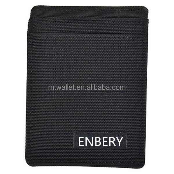 Men's Leather Pocket Nylon Wallet with Money Clip PU Leather Wallet Purse