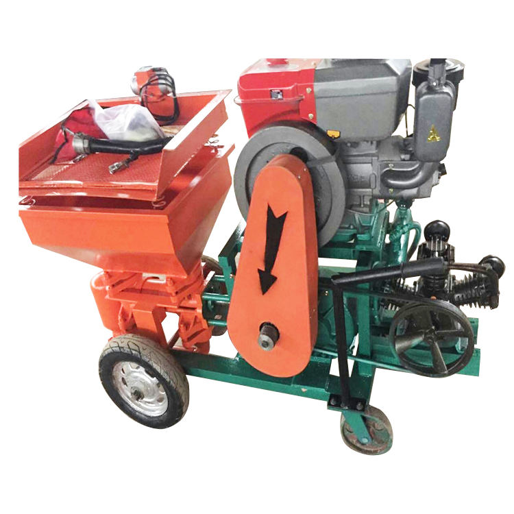 Powerful diesel power mortar spraying plastering machine