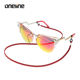 Customization Skid Resistance PU Leather Sports Glasses Cord Sunglasses Holder Strap