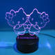 kitty cat style 2d laser led lighting home table lamp