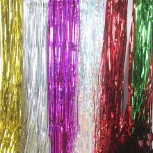 Wholesale Melody colorful door metallic tinsel foil fringe curtain party supplies Christmas hanging decoration