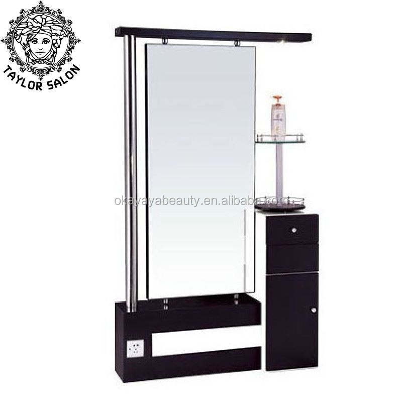 Hot selling barber stations furniture styling station salon mirror station for barbershop