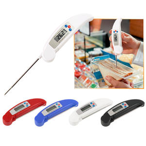 Ultra Instant Lees Opvouwbare BBQ Thermometer LCD Digitale Koken Thermometer Auto-Off Probe Mini Vouwen Vlees Thermometer