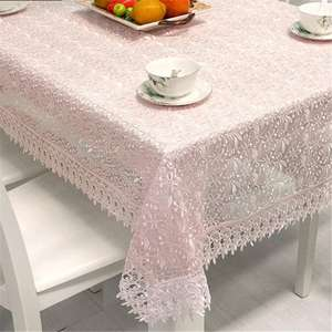 Manufacture gorgeous white multiple uses lace table cloth