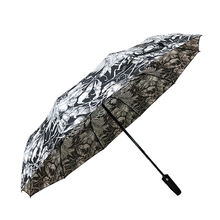 Portable folding Umbrella Windproof Double Canopy Automatic Open Strong Oversized Rain Umbrella