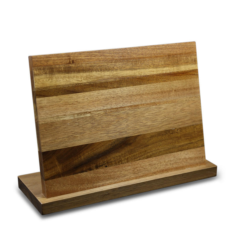 nature magnetic acacia wood Kitchen knife holder and stand