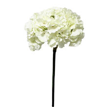 Highend quality home garden party fabric white single stem wholesale silk hydrangea artificial flower wedding centerpieces