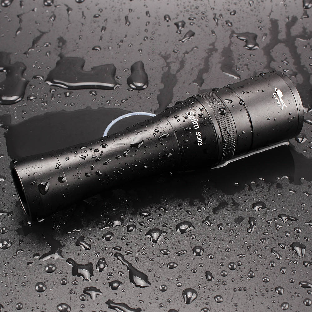 Diving IP68 CREE XM-L2 underwater 100 meters waterproof of hid dive flashlight Light 18650 or 26650 battery