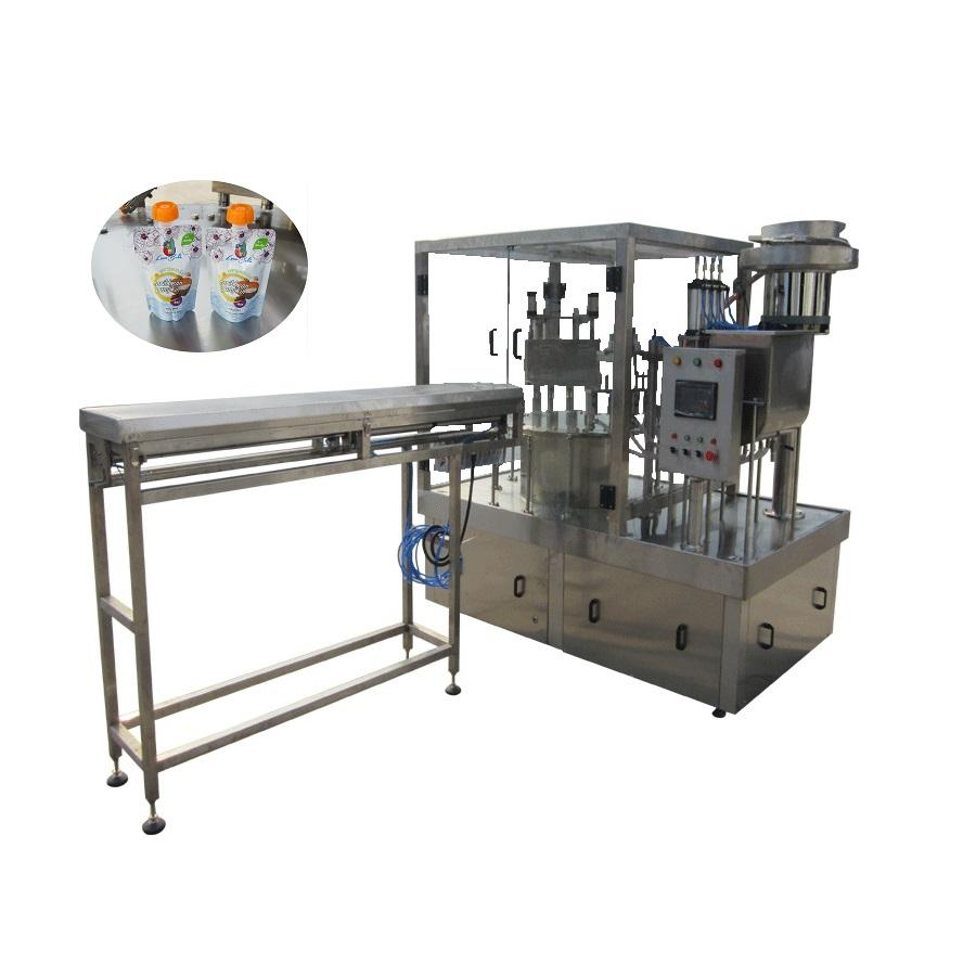 Shanghai Joygoal automatic rotary filling capping machine stand up pouch filling and sealing machine honey filling machine