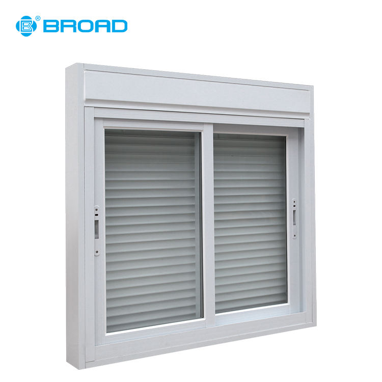 Aluminium frame automatische roller blind sliding glass windows met veiligheid flyscreen maken in china