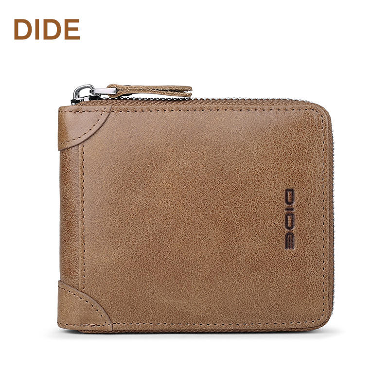 DIDE Genuine Leather Wallet Minimalist Card Holder Leather Wallet for Men Custom Wallet For Men