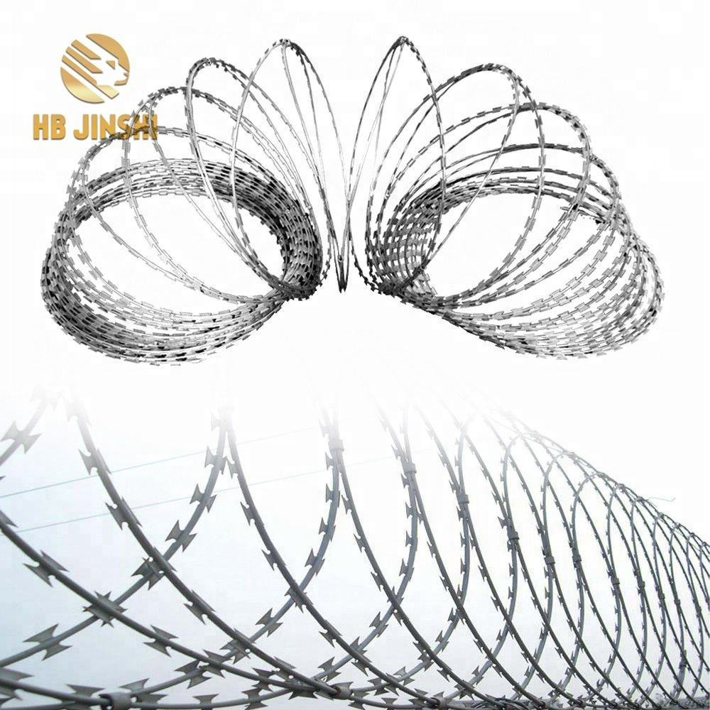 Poland 900mm coil Thermal BTO-22 Concertina Razor Barbed Wire