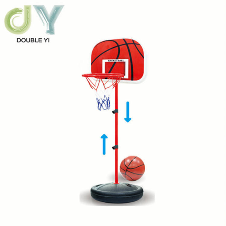 Wholesales Height Adjustable Portable Basketball suitable for 0~6 years old kids 44 Inch Backboard movable basketball stand