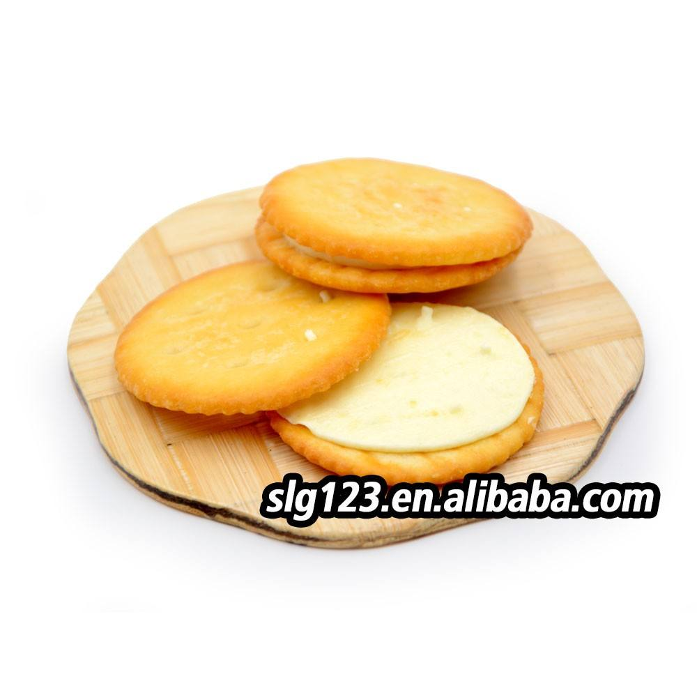 Export bulk packing Lemon Flavor Round Cream Sandwich Cookie in china