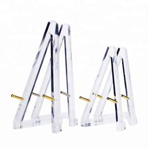 Transparent acrylic baby easel mini lucite table tripod easel
