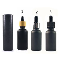 5ml  Paper tube 10ml 15ml 20ml 30ml 50ml 100ml matte black essential oil  serum glass dropper bottle with bamboo aluminum cap