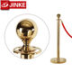 Queue Master Hanging Rope Stanchion Golden Finish, Queuing Barrier Stand