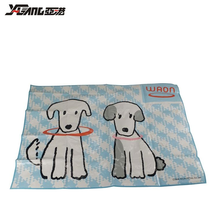 Eco-friendly Foldable Custom Cartoon dog pattern children's water play mat for kids