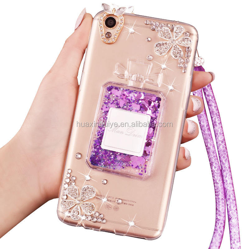 TPU Glitter Bling Bling Liquid Phone Case Cover For Samsung A520