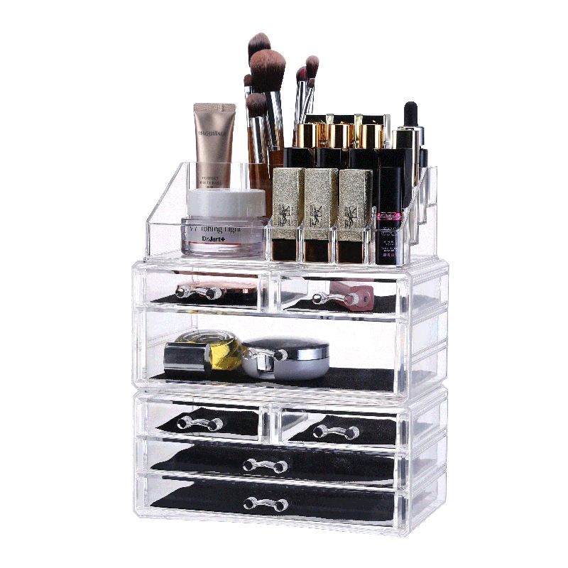 Wholesale Home 6 Drawer Clear Divisoria Acrylic Make Up Cosmetic Storage Makeup Organizer With Drawers