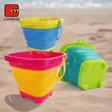Juguetes De Playa | Outdoor Beach Sand Toys Plastic Foldable Bucket Silicone Folding Bucket