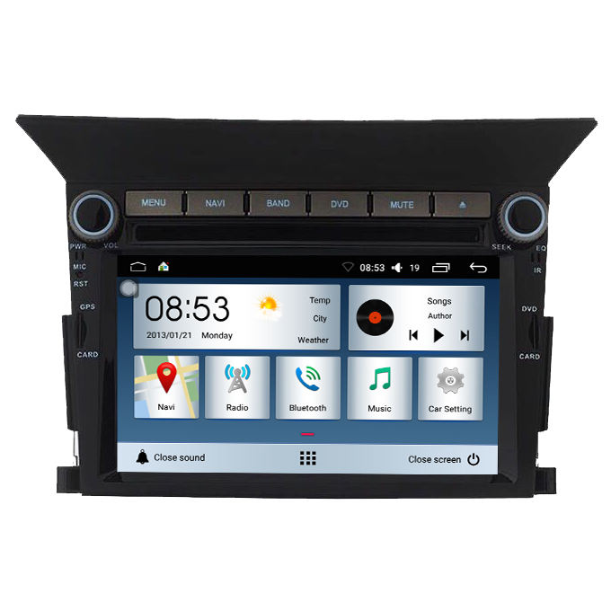 안드로이드 8.0 touch screen car radio gps 대 한 Honda Pilot car radio system 대 한 Honda Pilot GPS Navigation Radio 3 그램 번호부와 iPod