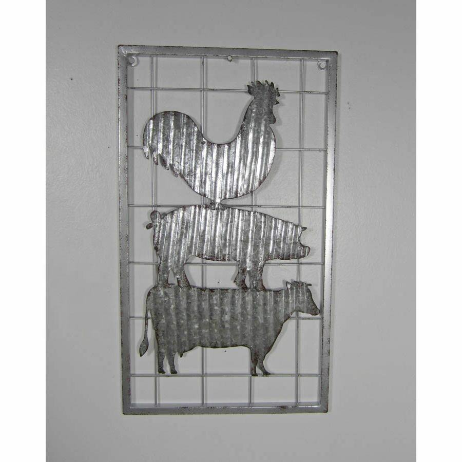 Tinplate Crafts Farm Animals Wall Decor In Antique Style Handmade Iron Crafts