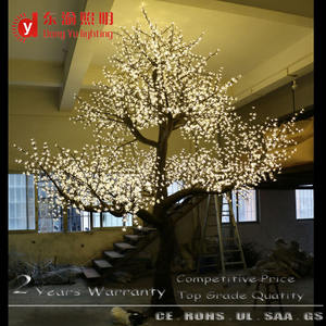 15ft outdoor large led artificial white cherry blossom tree for wedding