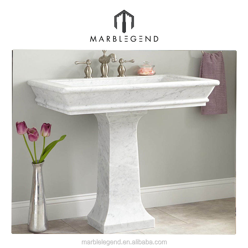 Best images about highly polishing white marble pedestal sink