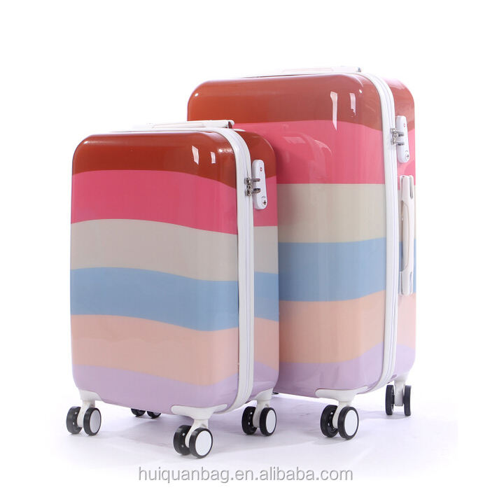Nouveau style populaire bagage <span class=keywords><strong>fille</strong></span> belle chariot arc-en-ciel ABS <span class=keywords><strong>bagages</strong></span>