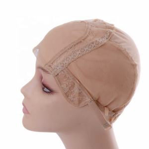 Custom Made Black Brown Blonde Silk Base Private Label Making 360 Swiss Lace Frontal Spandex Cap Wig Weaving Cap in Stocking