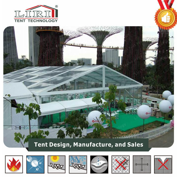 Used Transparent Glass Marquees with Flooring and Lighting for sale