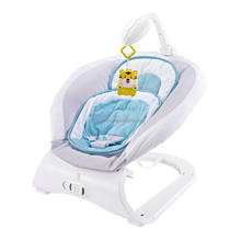 New products baby rocking chair jumper bouncer swing function with baby rattle toys non noxic material similar to fisher price