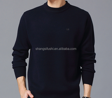 Guangzhou clothes factory men cashmere round neck knitted sweater