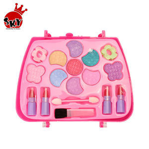 Kids Make Up Toy Set Pretend Play Princess Pink Makeup Sets Beauty Safety Non-toxic Kit Toys for Girls Dressing Cosmetic Travel