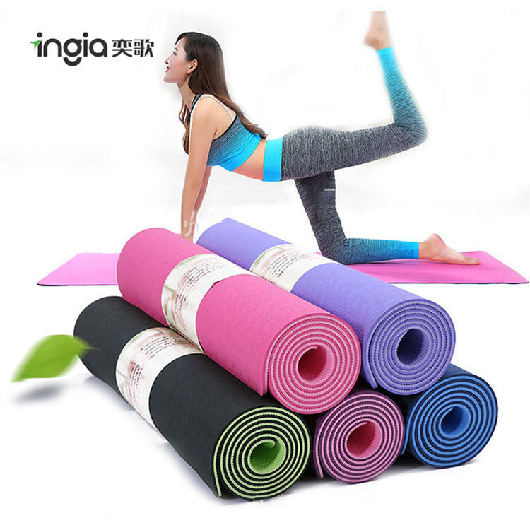 Custom Sport Colorful Exercise Designed Eco-friendly Natural Rubber PU Yoga Mat