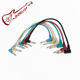 Set of 6pcS Colorful Guitar Patch Cables Angled for Guitar Effect Pedals Custom Guitar electric audio accessories Musical parts