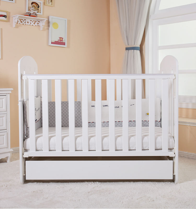 Multi-Function Baby Wooden Folding Bed/Baby Separated Bed/Acrylic Crib