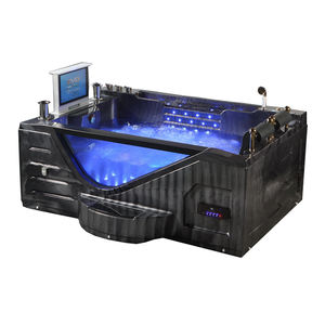 acrylic rectangle water jets air spa massage bathtub