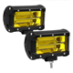Yalifu factory hot sell car led work light double row yellow light 72w work light off road vehicle spotlight