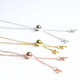 Wholesale 925 sterling silver accessory 50cm O shape necklace with silica gel bead and pearl holders for jewelry making